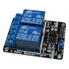 โมดูลรีเลย์ 2ช่อง 5V Optocoupler (2 Channel Relay Module)