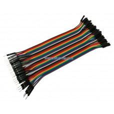 สาย Jumper Wire Male to Female 20cm 40pcs for Raspberry Pi