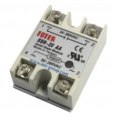 โซลิดสเตตรีเลย์ 25A Solid State Relay SSR-25 AA (AC to AC)