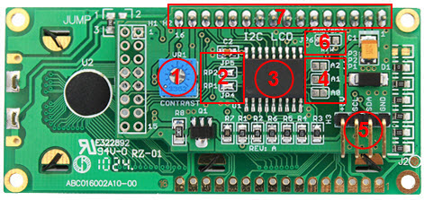 I2C LCD Blue Board for Arduino