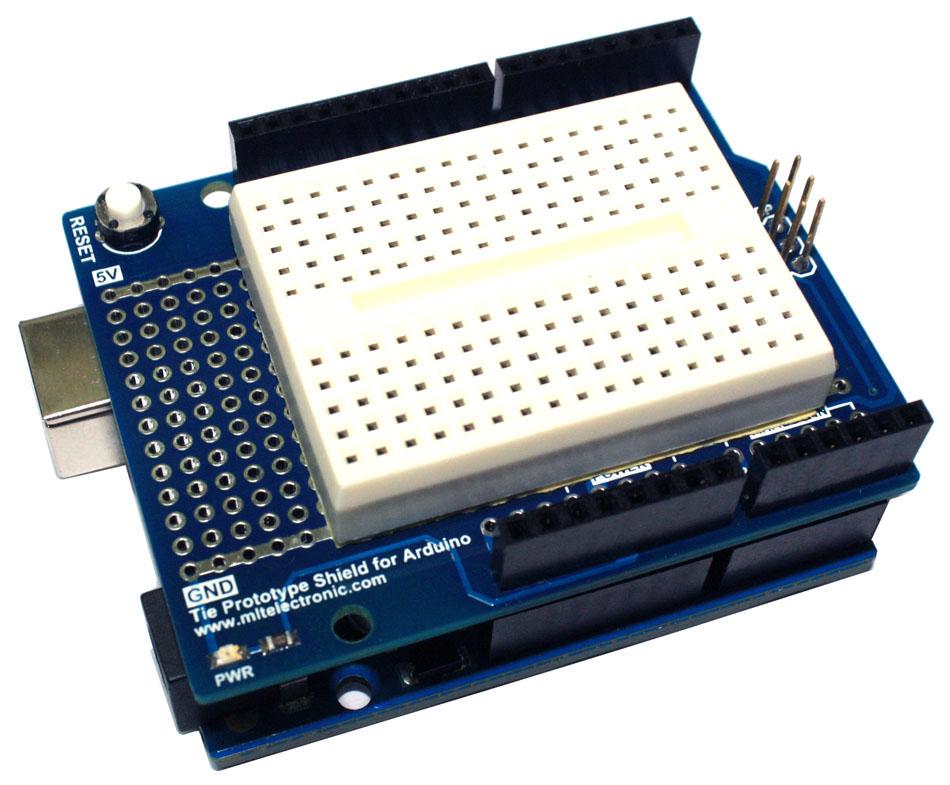 Tie prototype shield for arduino